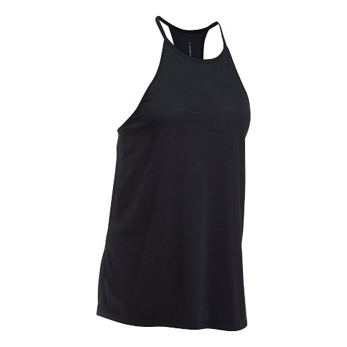 Womens Under Armour Threadborne Fashion Sleeveless & Tank Tops Technical Tops - Black XS