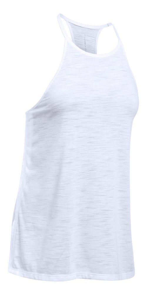 Womens Under Armour Threadborne Fashion Sleeveless & Tank Tops Technical Tops - White XL