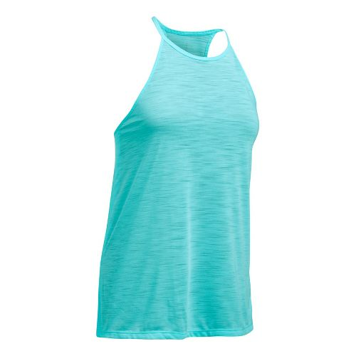 Womens Under Armour Threadborne Fashion Sleeveless & Tank Tops Technical Tops - Blue Infinity XL