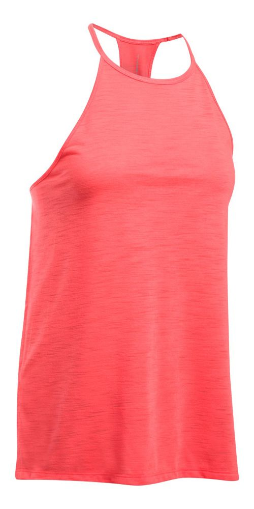 Womens Under Armour Threadborne Fashion Sleeveless & Tank Tops Technical Tops - Marathon Red S