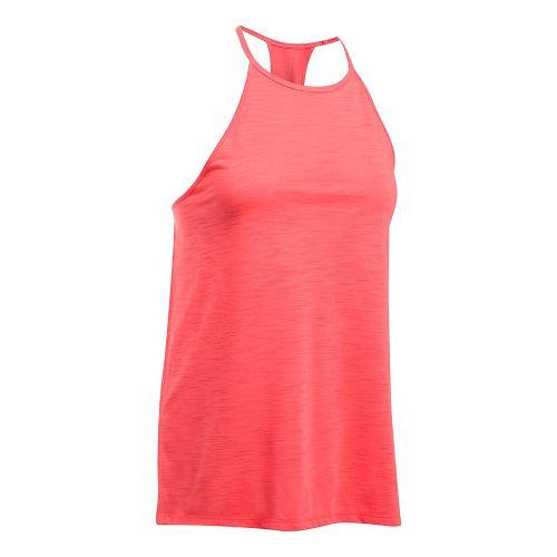 Womens Under Armour Threadborne Fashion Sleeveless & Tank Tops Technical Tops - Marathon Red L