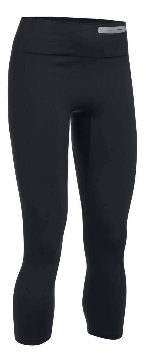 Womens Under Armour Threadborne Seamless Crop Tights - Black S