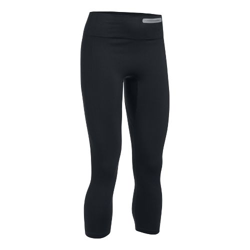 Womens Under Armour Threadborne Seamless Crop Tights - Black M
