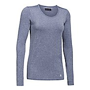 Womens Under Armour Threadborne Seamless Heather Long Sleeve Technical Tops