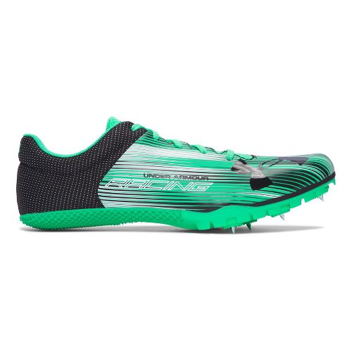 Mens Under Armour Kick Sprint Track and Field Shoe - Green/Black 12