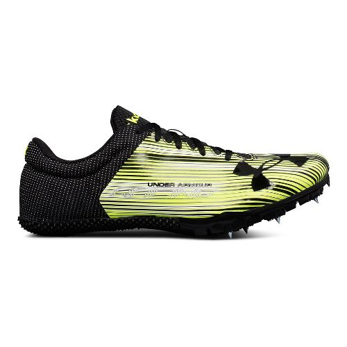 Mens Under Armour Kick Sprint Track and Field Shoe - White/Black 10