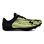 Womens Under Armour Kick Sprint Track and Field Shoe - Neon/Black 6