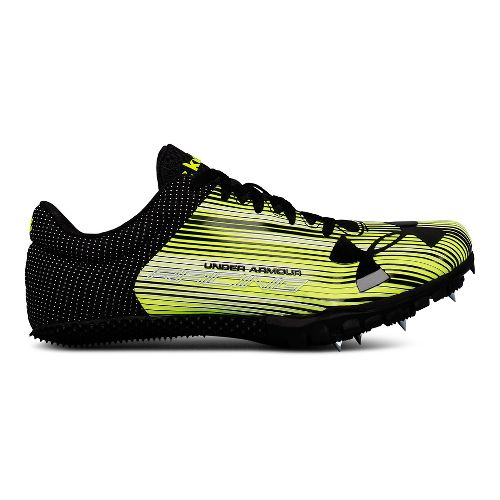 Womens Under Armour Kick Sprint Track and Field Shoe - Neon/Black 7