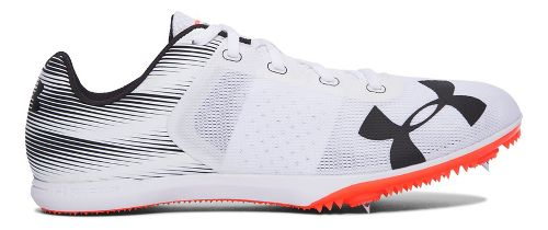 Mens Under Armour Kick Distance Track and Field Shoe - White/Fire 12