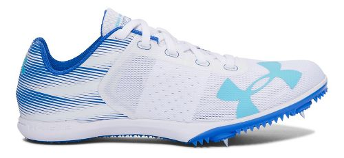 Womens Under Armour Kick Distance Track and Field Shoe - White 8