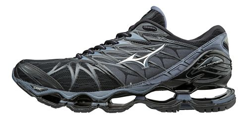 Mens Mizuno Wave Prophecy 7 Running Shoe - Black/Silver 10