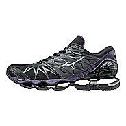 Womens Mizuno Wave Prophecy 7 Running Shoe - Black/Purple 7