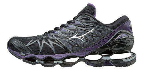 Womens Mizuno Wave Prophecy 7 Running Shoe - Black/Purple 6.5
