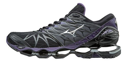 Womens Mizuno Wave Prophecy 7 Running Shoe - Black/Purple 8