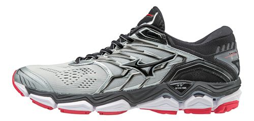 Mens Mizuno Wave Horizon 2 Running Shoe - Silver/Black 10.5