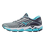 Womens Mizuno Wave Horizon 2 Running Shoe - Silver/Blue 6.5