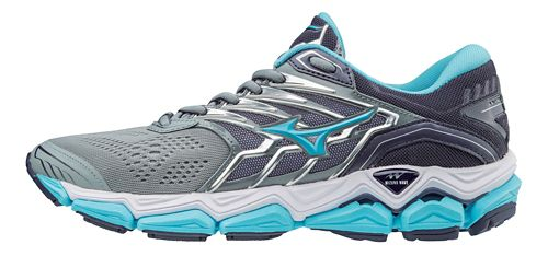 Womens Mizuno Wave Horizon 2 Running Shoe - Silver/Blue 11