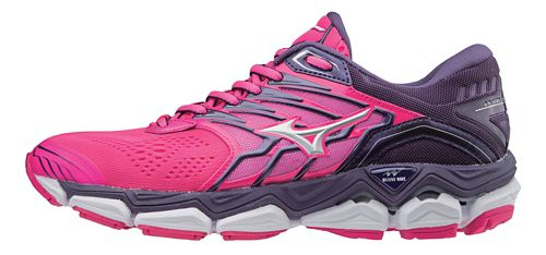 Womens Mizuno Wave Horizon 2 Running Shoe - Pink/White 6