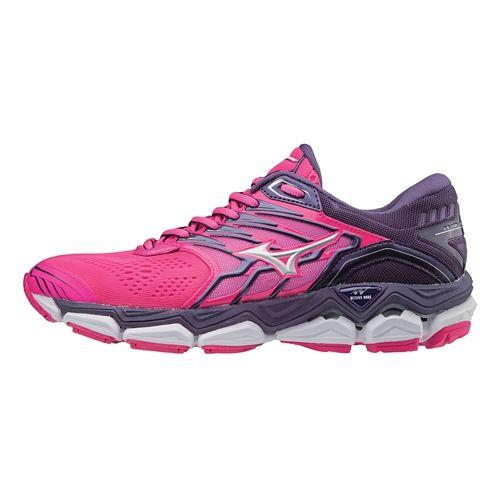Womens Mizuno Wave Horizon 2 Running Shoe - Pink/White 7.5