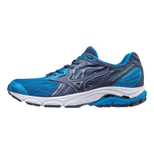 Mens Mizuno Wave Inspire 14 Running Shoe - Grey/Blue 9