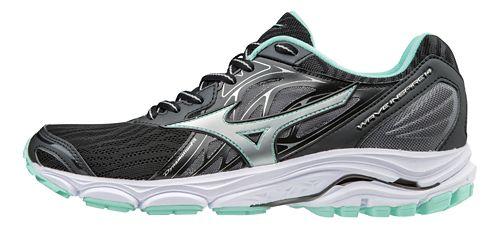 Womens Mizuno Wave Inspire 14 Running Shoe - Black/Turquoise 7