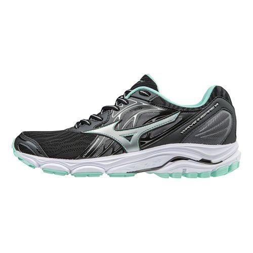 Womens Mizuno Wave Inspire 14 Running Shoe - Black/Turquoise 10.5