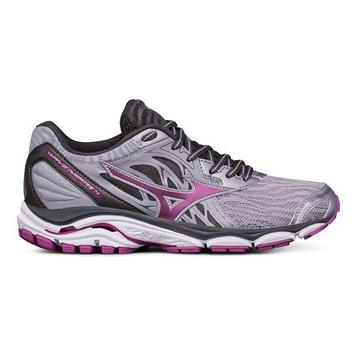 Womens Mizuno Wave Inspire 14 Running Shoe - Grey/Purple 6.5