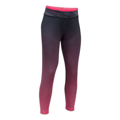 Under Armour Reversible Crop Legging  Tights - Black/Pink YS