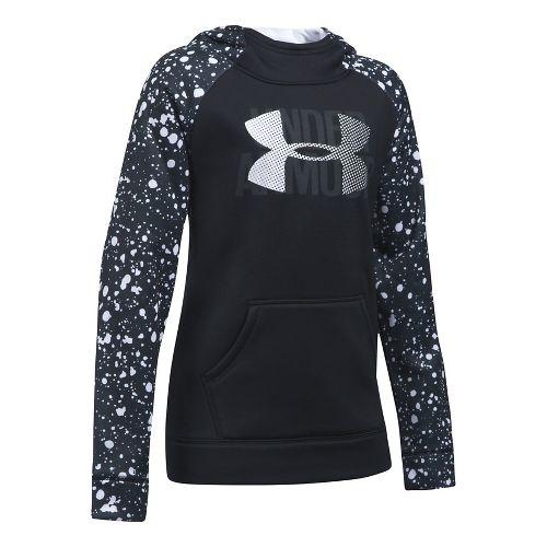 Girls Armour Fleece Highlight Novelty Half-Zips & Hoodies Technical Tops - Blue Shift YS