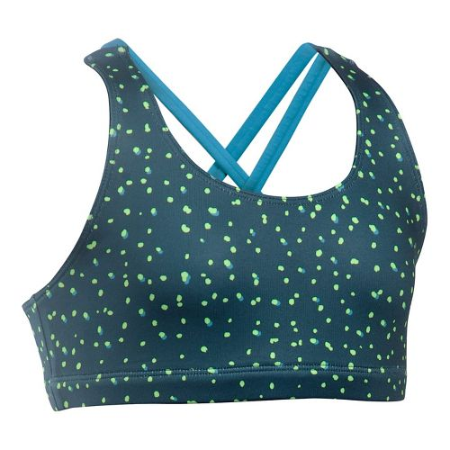 Under Armour Strappy Sports Bras - Ink/Blue YS