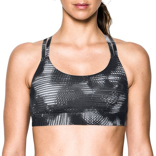 Womens Under Armour Eclipse Low Printed Sports Bras - Black XS