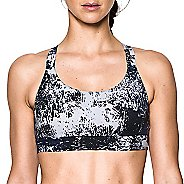 Womens Under Armour Eclipse Low Printed Sports Bras - Midnight Navy M