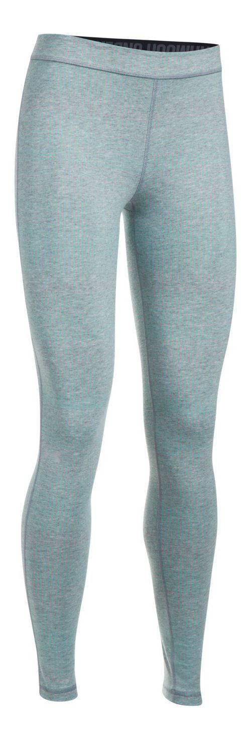 Womens Under Armour Favorite Legging-Print  Tights - Grey Heather/Blue XS
