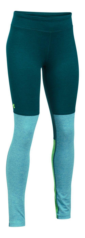 Under Armour Studio Legging  Tights - Green/Blue YS
