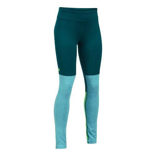 Under Armour Studio Legging  Tights - Green/Blue YM