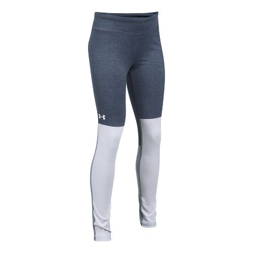 Under Armour Studio Legging  Tights - Grey/White YM