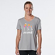 Womens R-Gear Pace Yourself Cocktail Graphic Tee Short Sleeve Technical Tops - Heather Chrome S