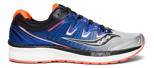 Mens Saucony Triumph ISO 4 Running Shoe - Blue/Black/White 7
