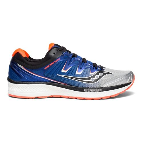 Mens Saucony Triumph ISO 4 Running Shoe - Blue/Black/White 12.5