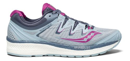 Womens Saucony Triumph ISO 4 Running Shoe - Fog/Purple 9.5