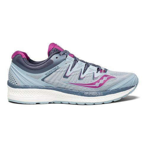 Womens Saucony Triumph ISO 4 Running Shoe - Fog/Purple 10.5