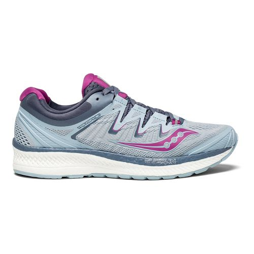 Womens Saucony Triumph ISO 4 Running Shoe - Fog/Purple 6