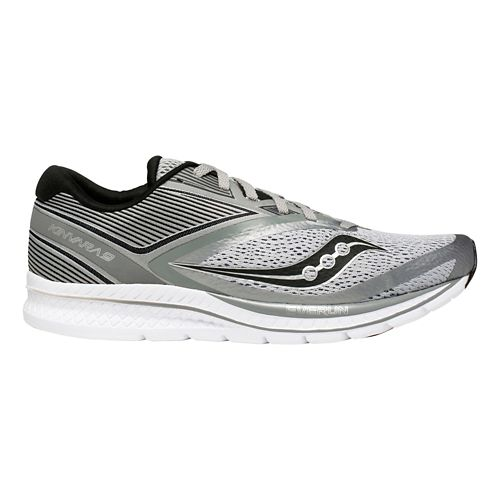 Mens Saucony Kinvara 9 Running Shoe - Grey/Black 8