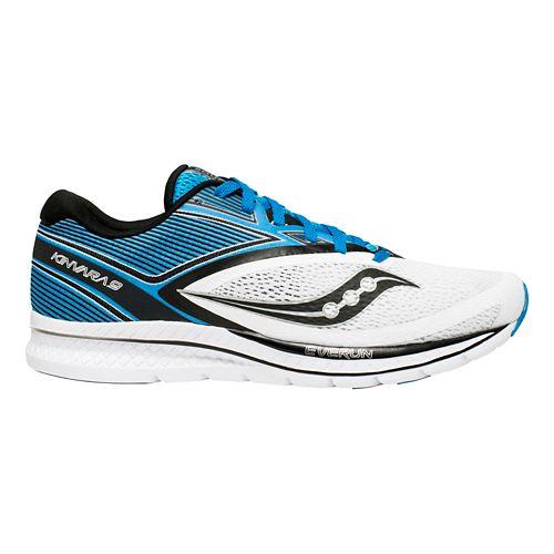 Mens Saucony Kinvara 9 Running Shoe - Blue/White 12