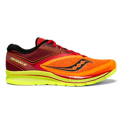 Mens Saucony Kinvara 9 Running Shoe - Orange/Red/Black 10.5