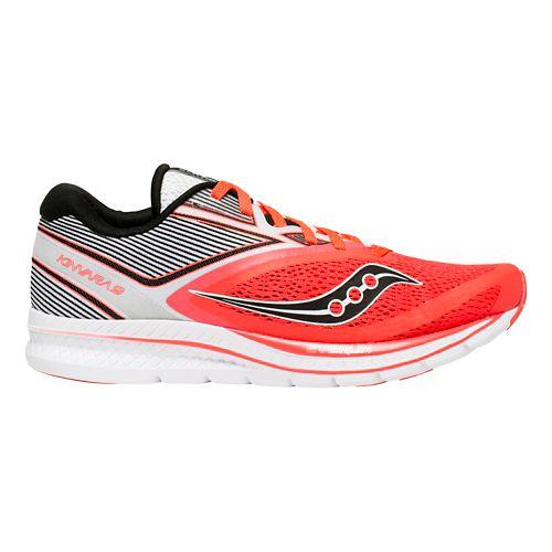 Womens Saucony Kinvara 9 Running Shoe - Red/White 11