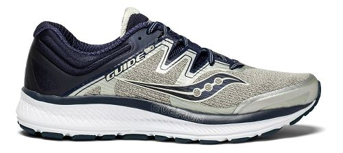 Mens Saucony Guide ISO Running Shoe - Grey/Navy 11