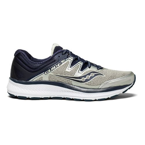 Mens Saucony Guide ISO Running Shoe - Grey/Navy 12