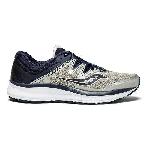Mens Saucony Guide ISO Running Shoe - Grey/Navy 9