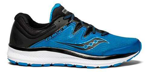 Mens Saucony Guide ISO Running Shoe - Blue/Black 8.5